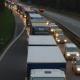Сотни грузовиков на границе Белоруссии с Латвией и Литвой